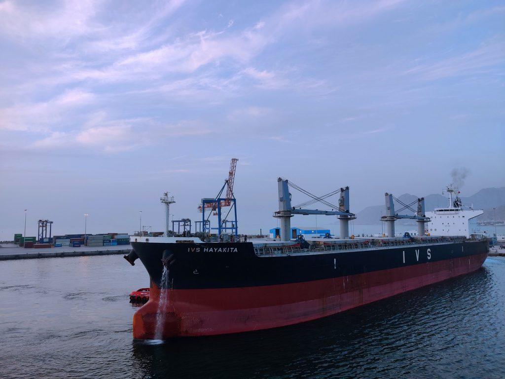 Bulk ship grain