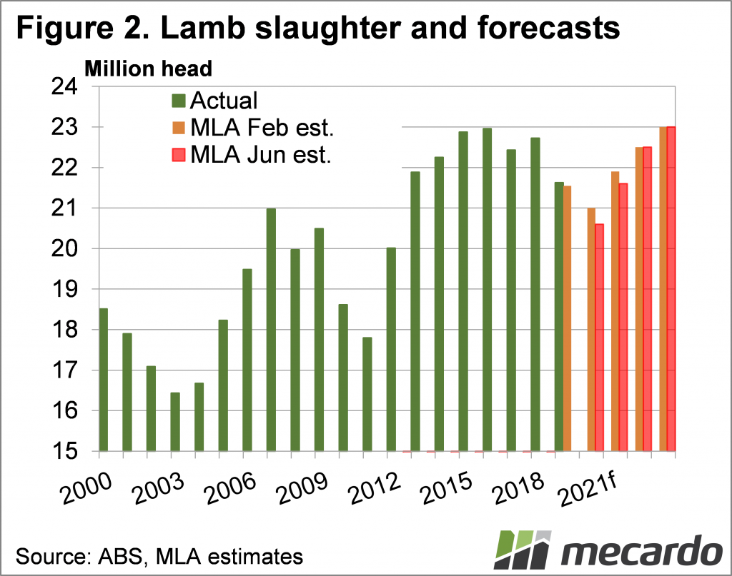 Lamb slaughter and forecasts