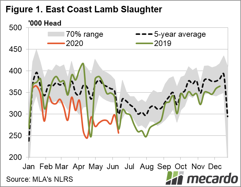East Coast Lamb Slaughter Chart