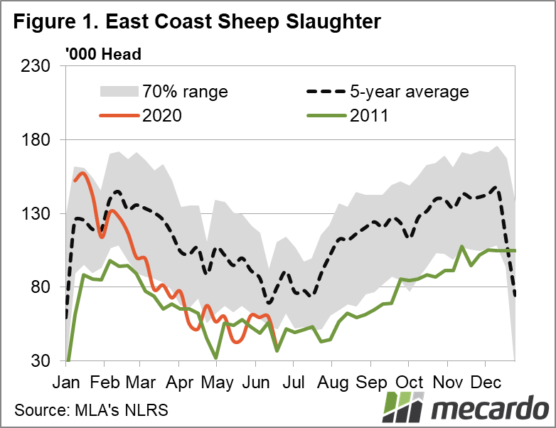East Coast Sheep Slaughter Chart