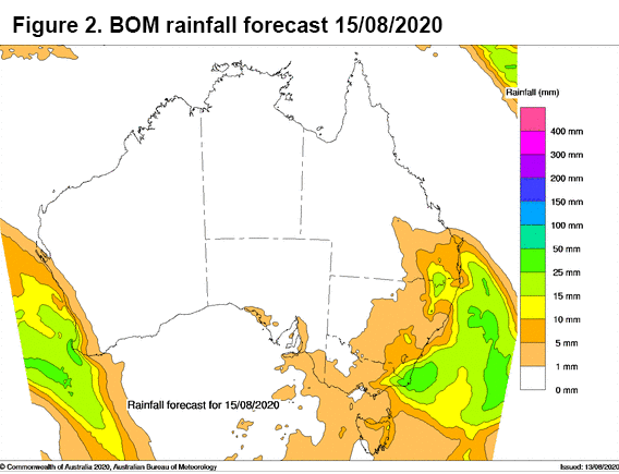 BOM rainfall 15/08/2020