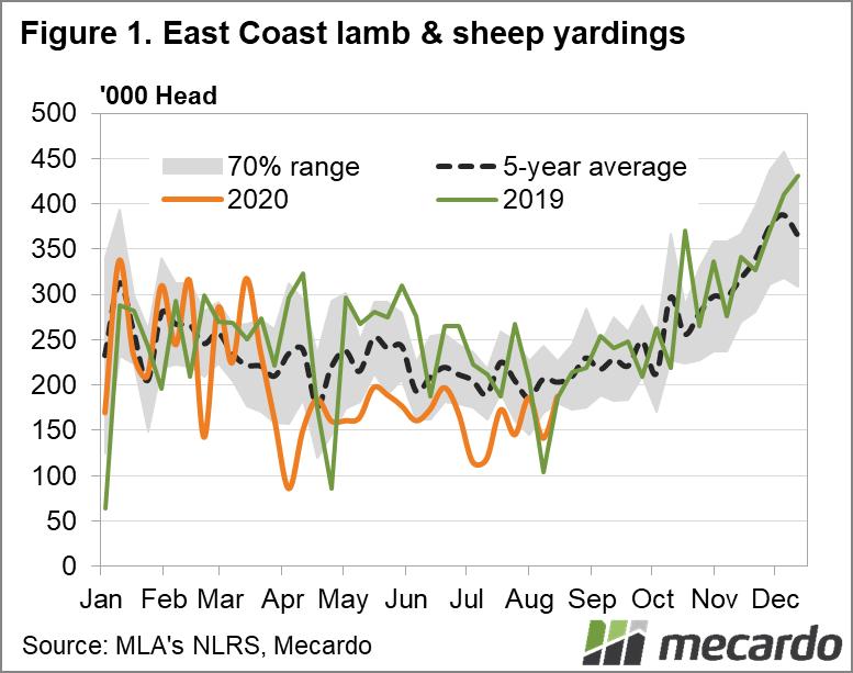 East Coast lamb & Sheep yardings