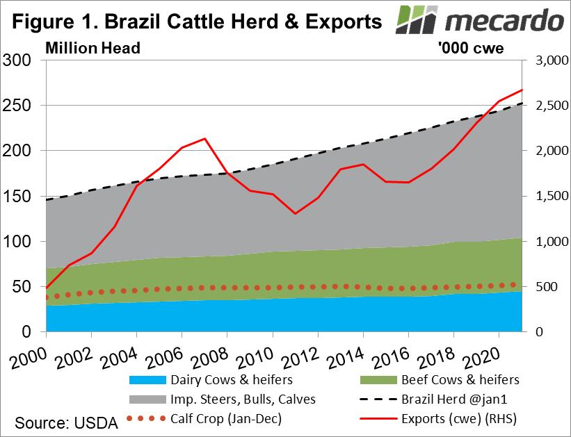 Brazil Cattle Herd & Exports