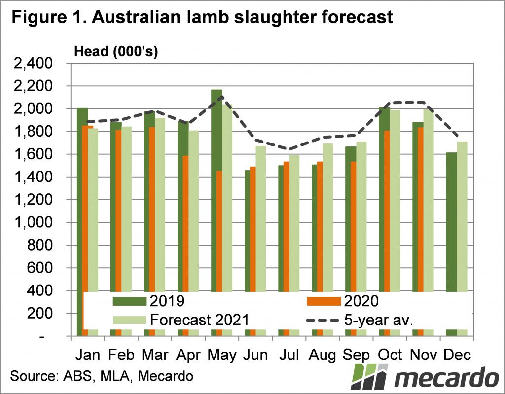 Australian lamb slaughter forecast