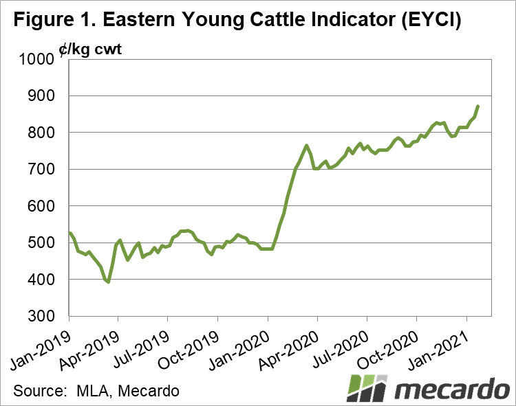 Eastern Young Cattle Indicator(EYCI)