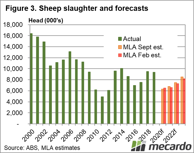 Sheep slaughter and forecasts