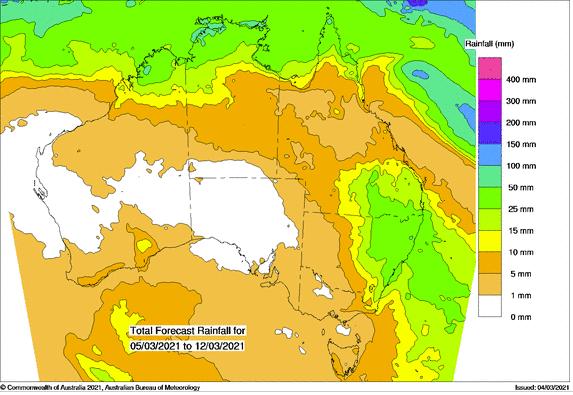 Rainfall prediction chart Australia