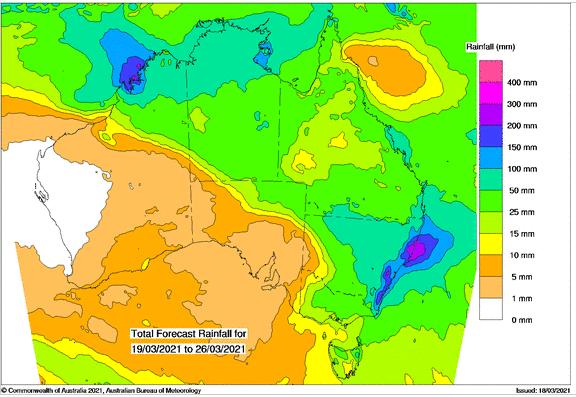 BOM rainfall chart