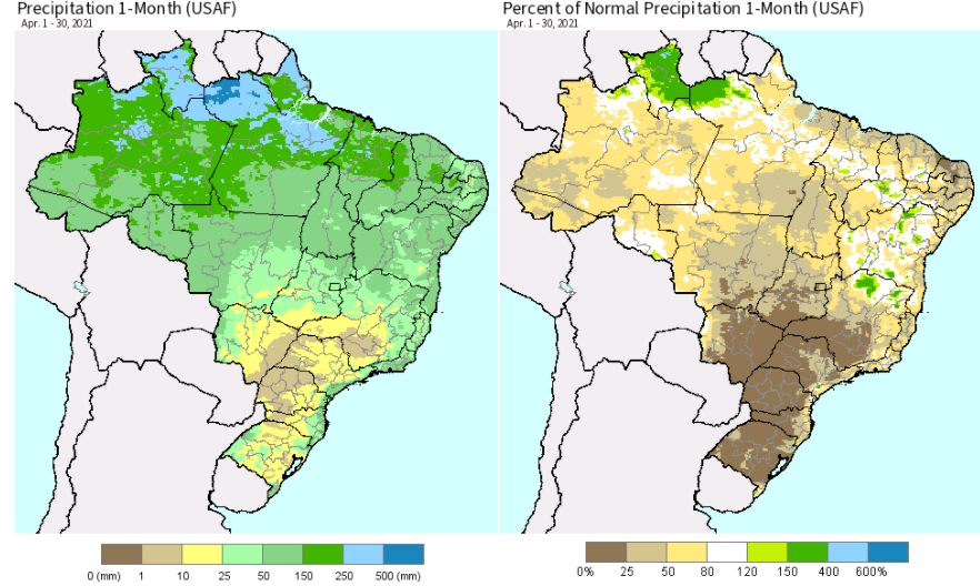 Brazil rain forecast