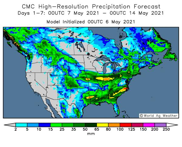 United States Rainfall chart