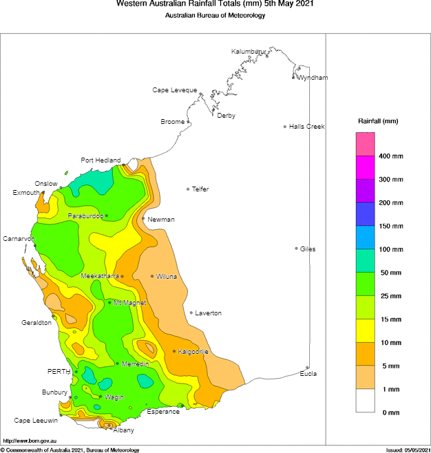 WA rainfall chart