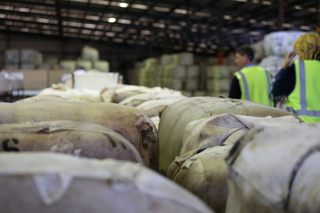 Wool bales inspection