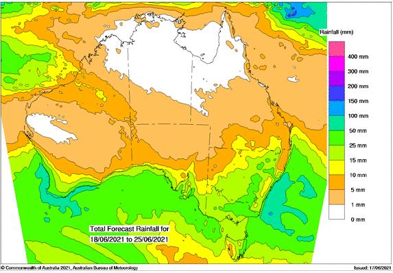 BOM 7 day rainfall forecast