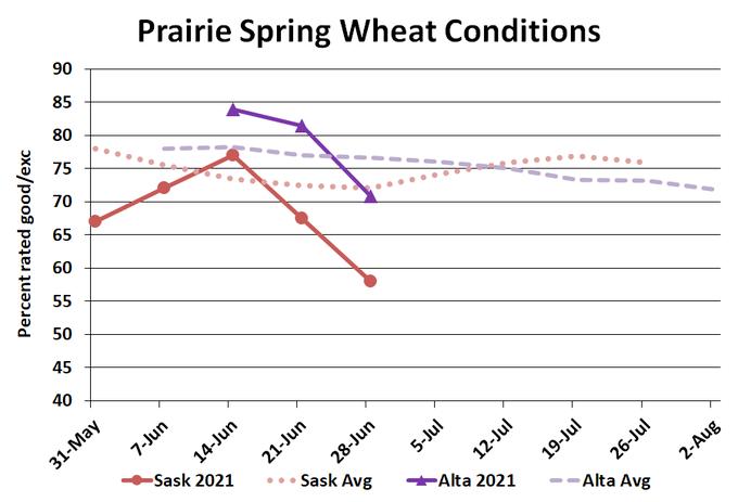 Prairie Spring Wheat Conditions