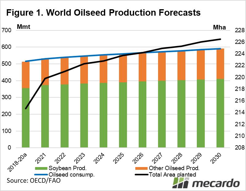 World oilseed production forecasts