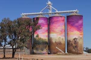 Grain silos art