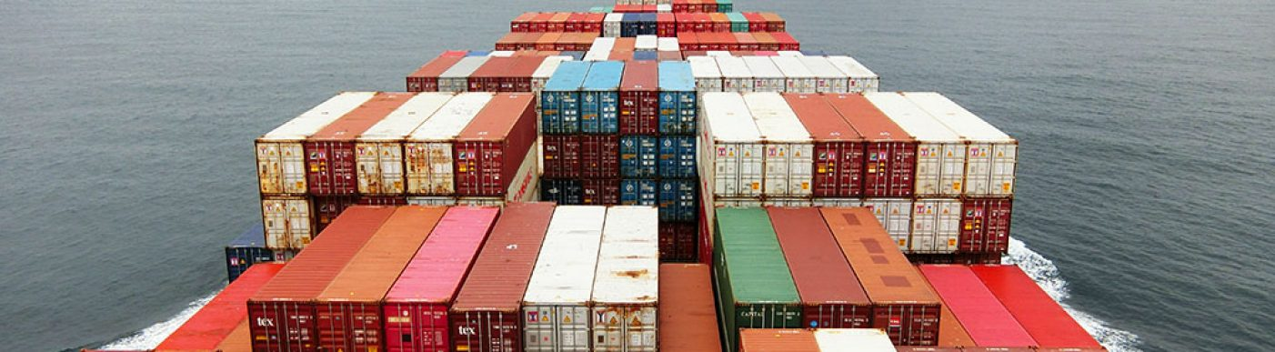 Image of shipping containers at sea